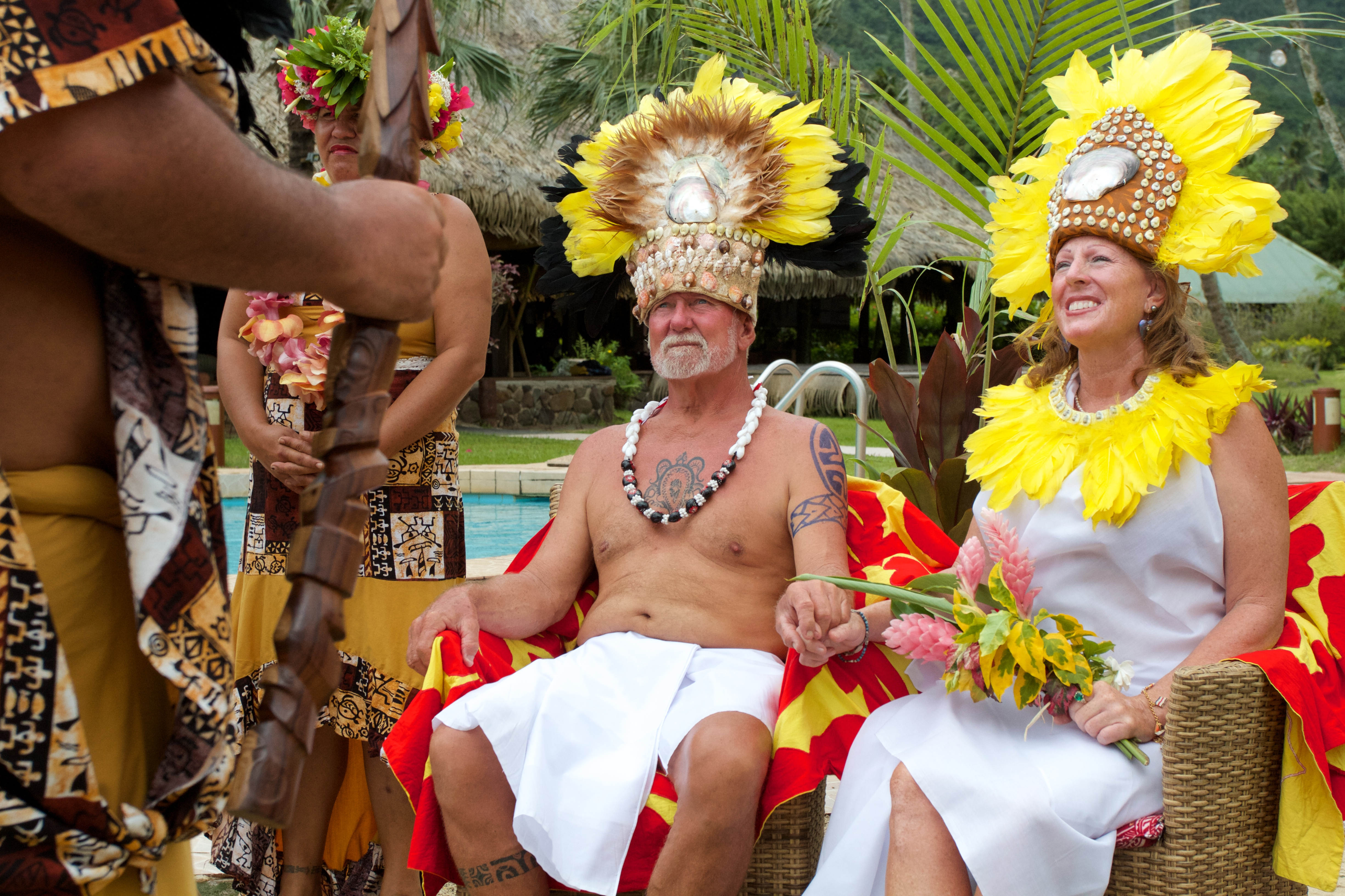A Polynesian wedding