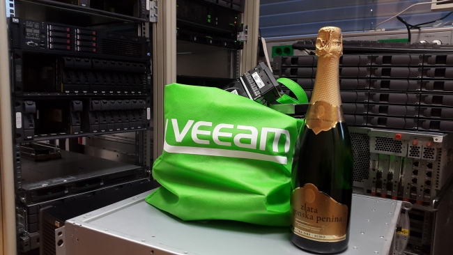 A gold medal for Veeam status