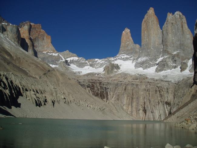 Mogočni stolpi Torres del Paine v čilski Patagoniji.