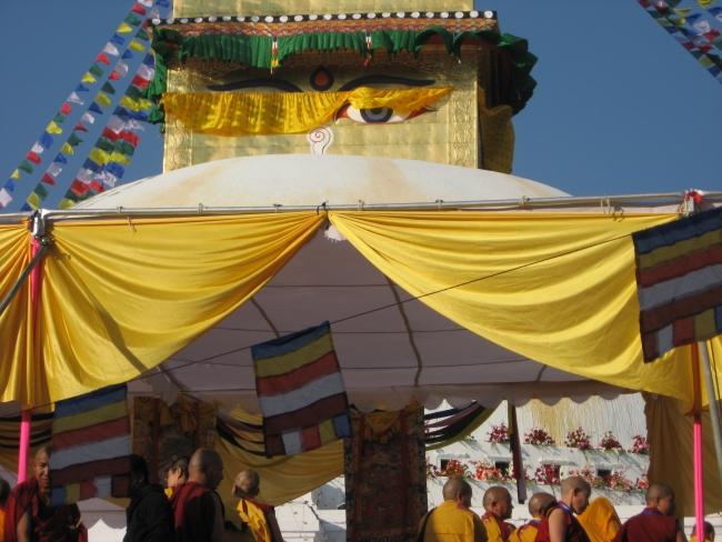 Pomežik Bude med otvoritveno slovesnostjo